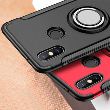 For Xiaomi Redmi Note 5 Pro Case Hybrid Silicone+PC Full Cover Shockproof Rugged Armor Ring Holder Cover for Redmi Note 7 Pro стоимость