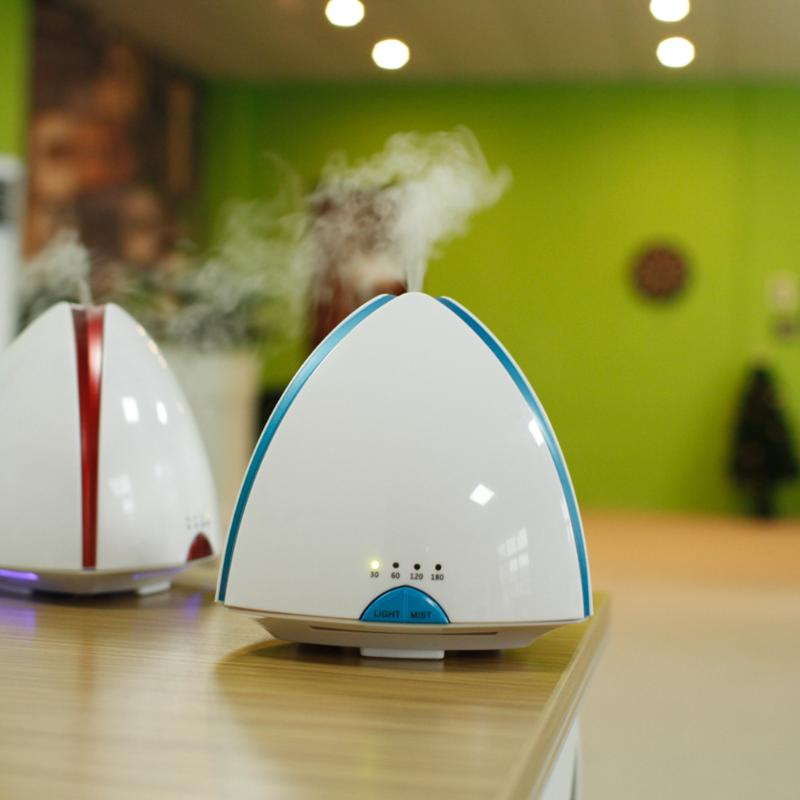 120ml Ultrasonic Air Humidifier led light wood grain Essential Oil Diffuser aromatherapy mist maker for Home Office Use