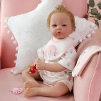 50 см мягкие силиконовые куклы Младенцы как живые милые принцесса новорожденная девочка малыши кукла Bebe куклы подарок на день рождения для м