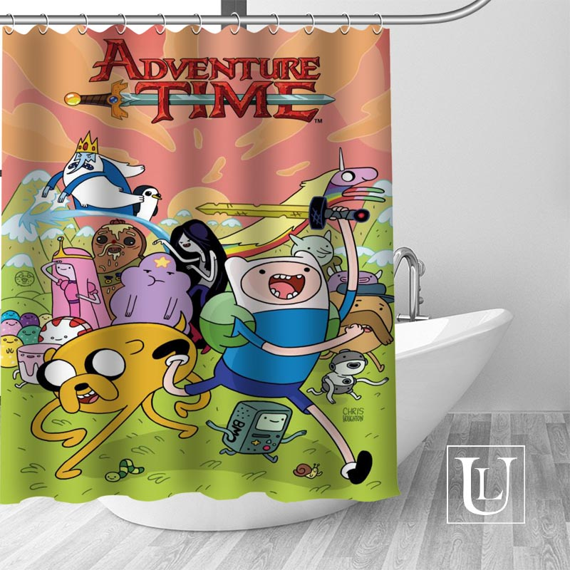 Adventure Time Shower Curtains Custom Design Creative Curtain Bathroom Waterproof Polyester Fabric In From Home Garden On