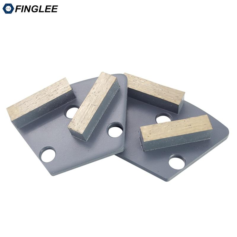 FINGLEE deimantinis betonas Šlifavimo diskas, šlifavimo batai, 40x10x10mm, trapecijos formos padėklas, betoninis grindų grubus šlifavimas