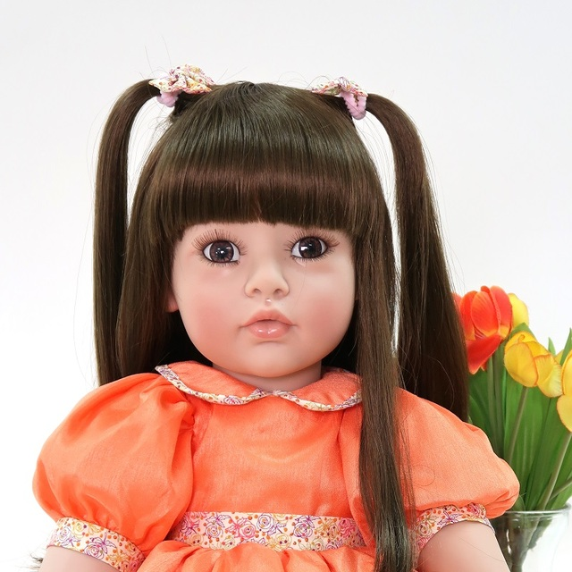 60cm Silicone Reborn Baby Girl Doll Toy