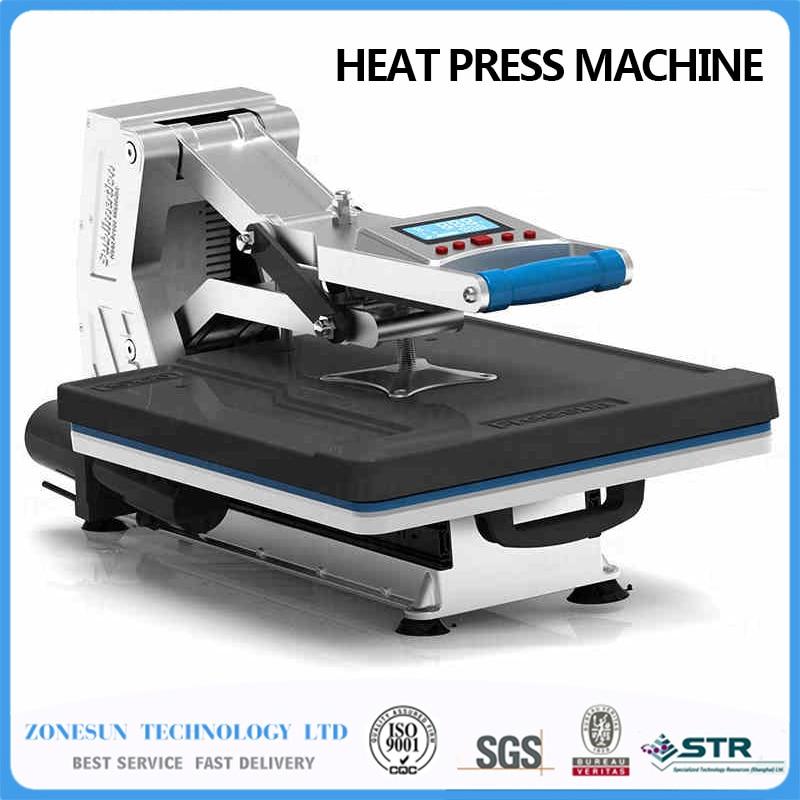 ST-4050A 2015 Sunmeta newest T-shirt printing heat press machine 40*50cm,220V/50Hz,the sliding type,With Hydraulic pressure hand large heat press machine with worktable size 50x 100cm