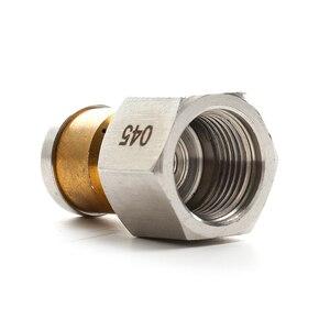 """Image 4 - ROUE haute pression de haute qualité, accessoire BSP, entrée 1/4 """", 3 buses de tuyau, buse métallique rotative pour égouts"""