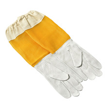 1 Pair Professional Beekeeping gloves for beekeeping bee Protective Gloves with Vented Long Sleeves Safety