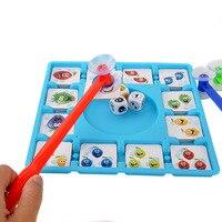 חדש משחקי לוח משחקי צד מקלות פירות ילדים לילדים מוקדם ללמוד צעצועים חינוכיים משפחה ניידת מתנות חידוש צעצוע