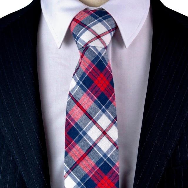 Vendita di liquidazione design raffinato marchi riconosciuti US $6.99 |Controllato Plaid di Tartan Scozzese Multicolore Bianco Navy Blu  Rosso 100% Cotone Mens Cravatte cravatte Brand New Fatti A Mano di ...