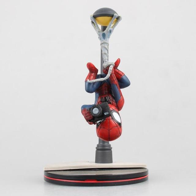 SpiderMan lâmpada de rua Ver. bonito dos desenhos animados modelo figura presentes de Inversão com câmera versão Y7192 Animiation toy decoração encaixotado