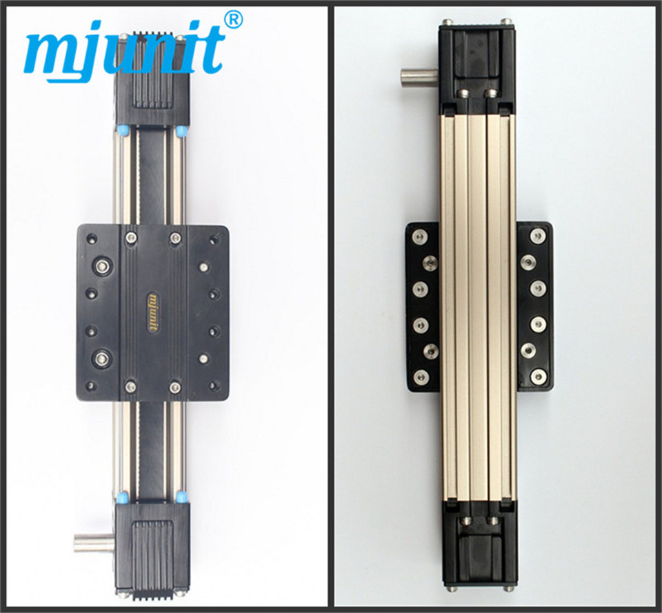 mjunit Linear Guide Way-Linear Rail belt drive Shaft, Linear Rail High Precision Guideway belt driven linear slide rail belt drive guideway professional manufacturer of actuator system axis positioning