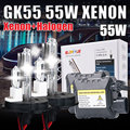 DC 55 W KIT XNEON ESCONDEU H4-2 H13-2 9004 9007 HALOGÊNIO e xenon kit 4300 6000 10000 k 12000 k 15000 k escondeu kit de conversão xenon h4 lâmpada