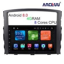 9 дюймов Большой экран 8 core Android 8,0 автомобиль DVD gps для MITSUBISHI PAJERO 2006 2007 2008-2014 2015 автомобиль Радио Стерео 4 г Оперативная память