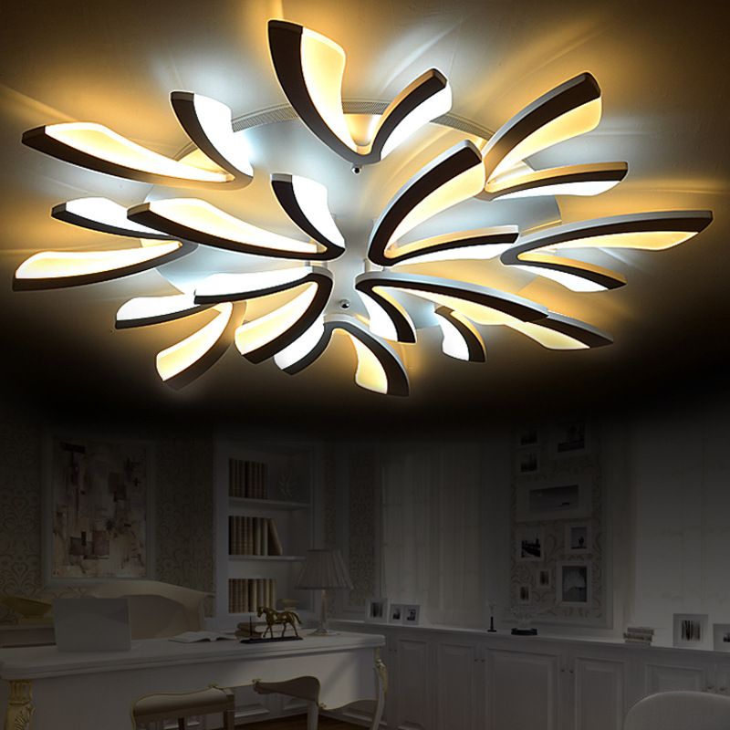 Acrylic Modern led ceiling lights for living room bedroom dining room home ceiling lamp lighting light fixtures free shipping anqiue led ceiling lamp beautiful chandelier jingdezhen porcelain light for dining bedroom hotel free shipping