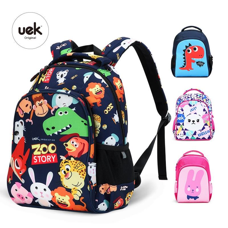 2018 UEK 1 6 Grade Children Backpacks Boys School Backpack Kids Bag Animal Printing Dinosaur Bag