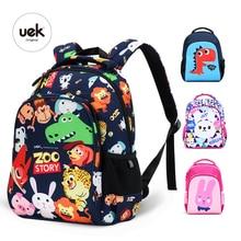 Novo uek 1 6 grau crianças mochilas meninos escola mochila crianças saco de impressão animal dinossauro sacos de escola para meninas