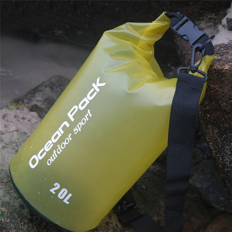 20L PVC Waterproof Dry Bag Outdoor Sport Swimming Rafting Kayaking Sailing Bag Outdoor waterproof bag #2f19 (7)