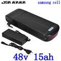 48В 500 Вт 750 Вт ebike батарея 48В 15ач задняя стойка литий-ионная батарея использование samsung cell 48В Электрический велосипед батарея с 2A зарядное уст...