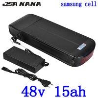 48 V 500 W 750 W ebike батарея 48 V 11AH задняя стойка литий ионная батарея 48 v 11ah электрическая велосипедная батарея с зарядным устройством и багажной ст