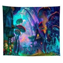 ZEIMON  Forest Tapestry Wall Hanging Psychedelic Mushroom Decorative Wall Tapestries Art Wall Carpet Farmhouse Decor Carpet цена в Москве и Питере