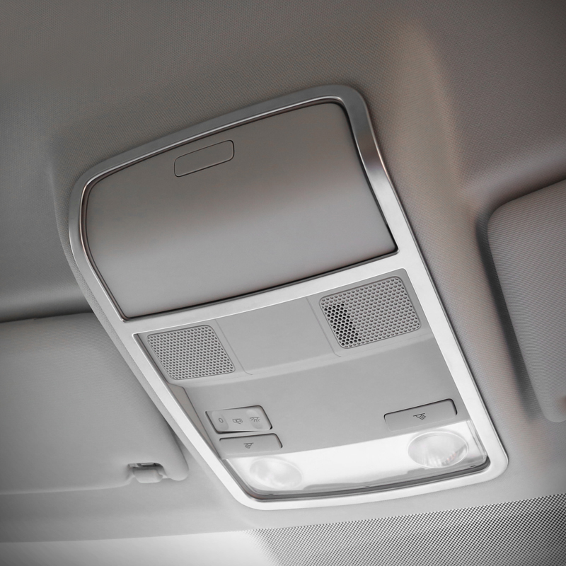ABS Chrome For Tiguan 2009 to 2015 Car front and rear reading Lampshade cover trim auto accessories styling