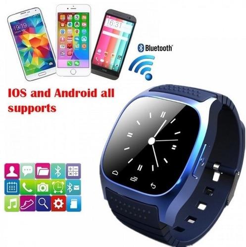 Nouveau 2018 Étanche Smartwatch M26 Bluetooth Montre Smart Watch Avec LED Alitmeter Musique Lecteur Podomètre Pour Android Téléphone Intelligent