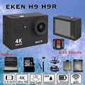 Câmera ação Original EKEN H9 H9R Com Caso Ultra HD 4 K WiFi 1080 P/60fps 1050 MAH Helmet Cam subaquática ir à prova d' água pro câmera