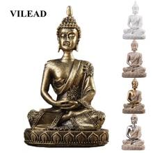 VILEAD 11 см природный песчаник индийский Будда статуя фэншуй сидя Будда статуэтки Винтаж Домашний Декор использовать для аквариума