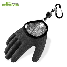 Booms Fishing Free-Hands Gloves Waterproof and Provide Better Grip with Magnet Release