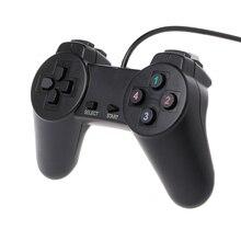 وحدة تحكم في ألعاب USB 2.0 مزودة بعصا تحكم سلكية لأجهزة الكمبيوتر المحمول والكمبيوتر الشخصي