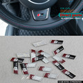 10piece for Audi A3 A4 A5 A6 Q3 Q5 Q7 TT RS SLINE styling car interior accessories steering wheel protection decorative stickers