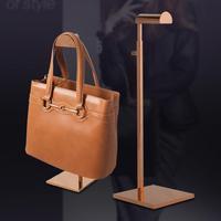Groothandel 2 model metalen Tas handtas schoen display stand/verstelbare hoogte/dikke base/goud rvs rack mannequins C205