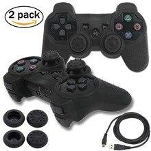 Blueloong 2 шт. черный Цвет Беспроводной Bluetooth Джойстик Геймпад для PlayStation 3 PS3 контроллер + бесплатная доставка