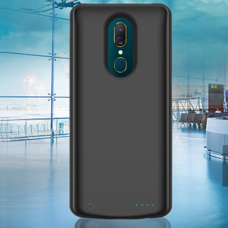 ZKFYS 6500mAh External Battery Pack Backup Charger Case For OPPO A9 High Quality Ultra Thin Fast Back Clip Battery Charger Case in Battery Charger Cases from Cellphones Telecommunications
