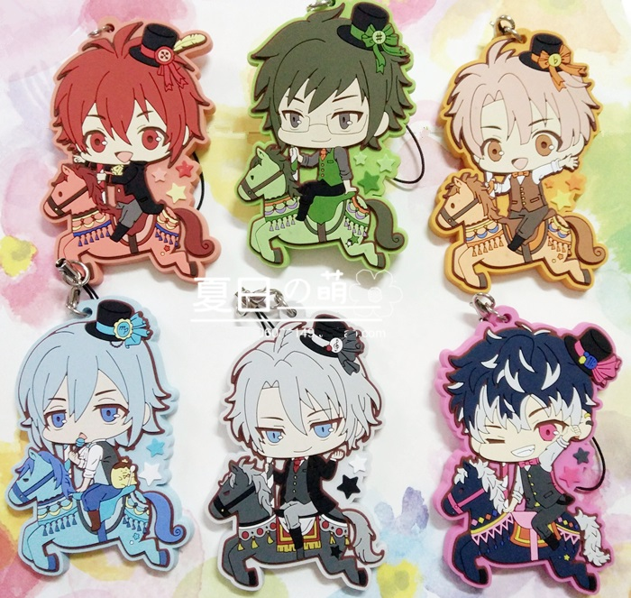 IDOLiSH7 GAME TRIGGER Re: vale Riding Horse Ver Rubber Keychain ensemble stars anime idol high school game team trickstar bean eye ver japanese rubber keychain