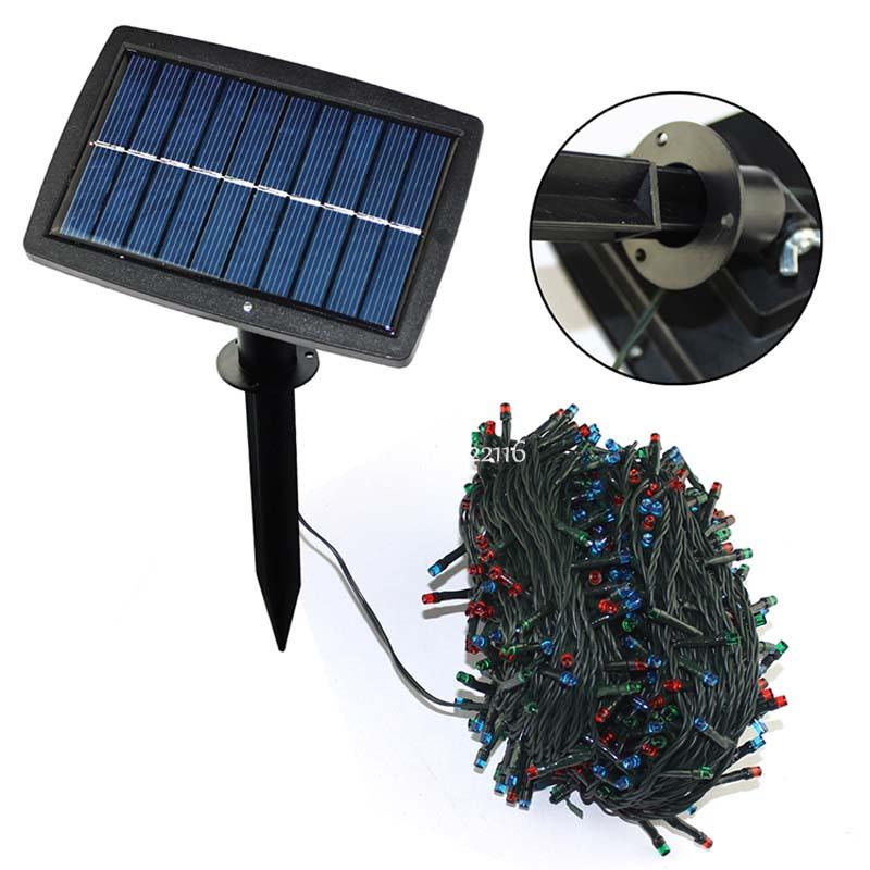 multicolor lampara led panel solar al aire libre jardn jardn luz de la navidad impermeable de