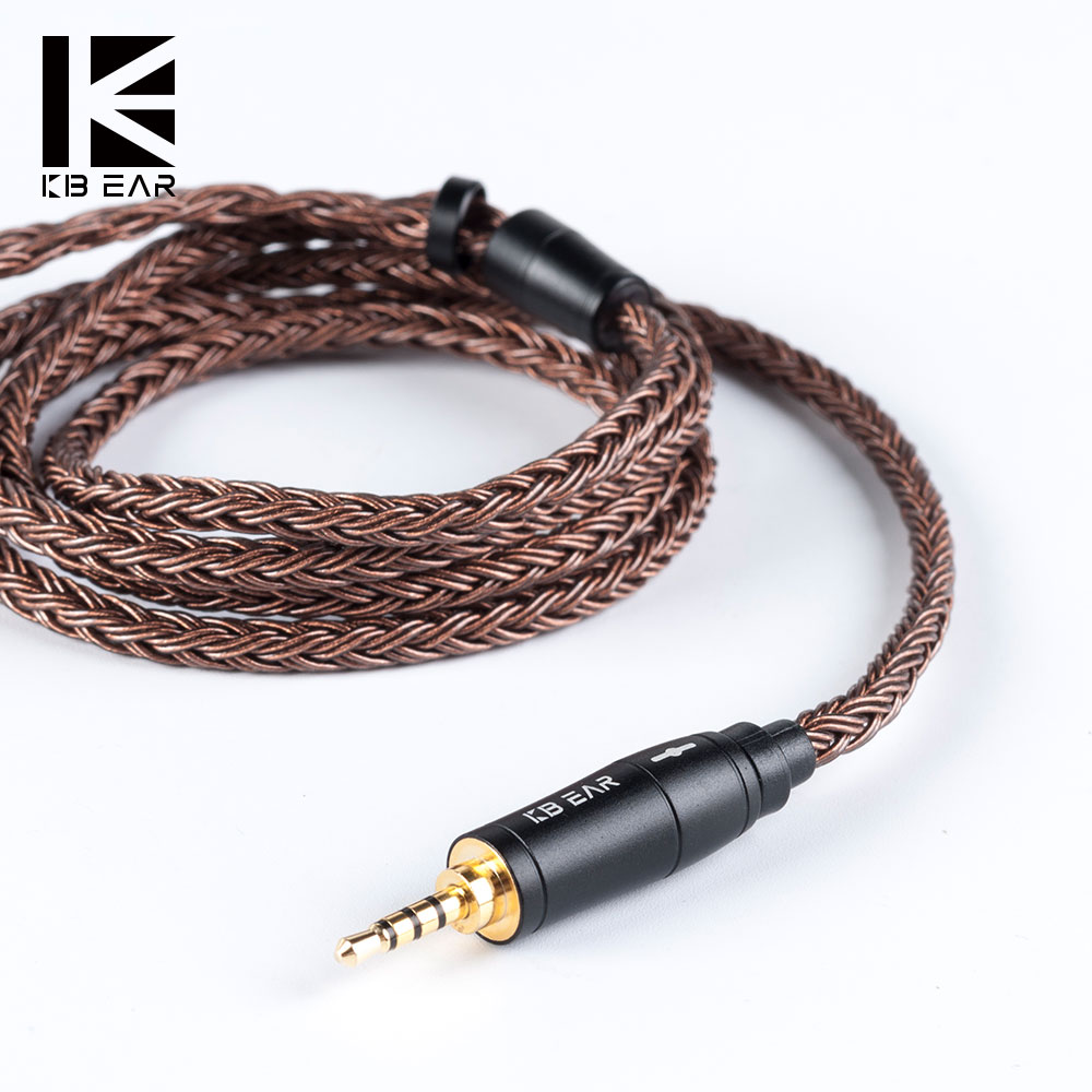 KBEAR 16 Core Upgraded Pure Copper Balanced Cable 2.5/3.5/4.4MM With MMCX/2pin/QDC Connector For KZ ZS10 Pro ZSX C12 BLON BL-03 image