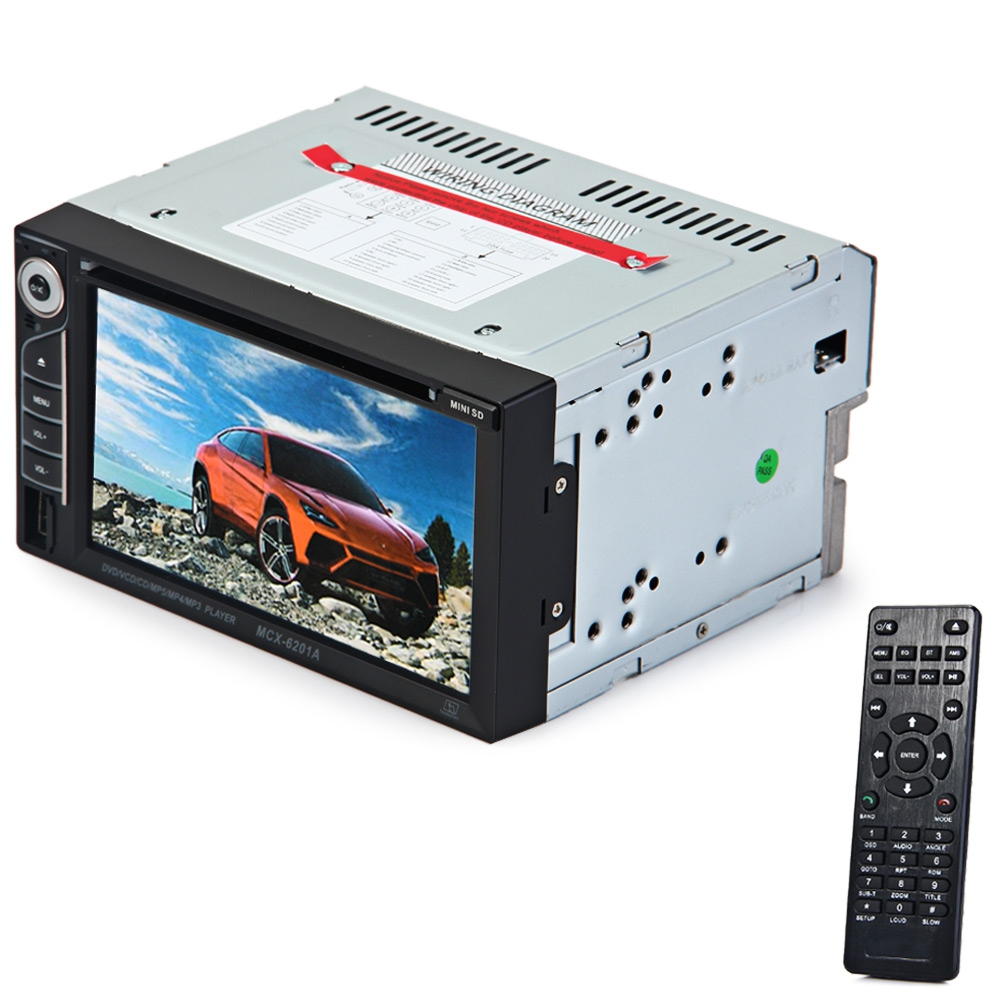 6201A Car DVD Player Double Din Car Audio Video Player Touch Screen DVD VCD MP5 MP4 MP3 Multimedia Player Support Bluetooth FM