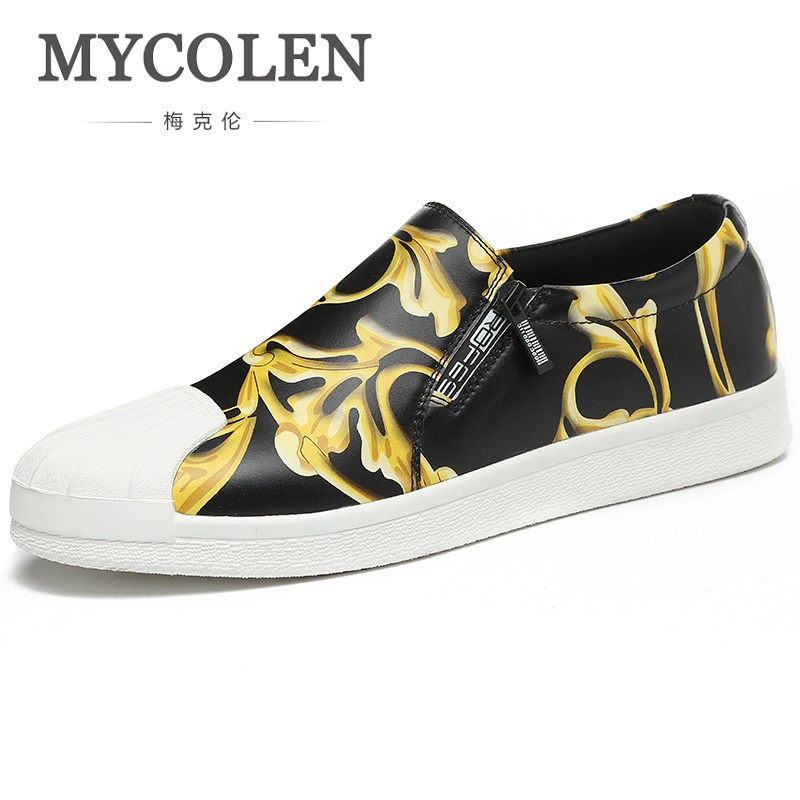 MYCOLEN 2018 New Fashion Shoes Men Soft Leather Footwear Men's Causal Shoes Brand Non-Slip Breathable Loafers Herenschoenen 2017 new spring imported leather men s shoes white eather shoes breathable sneaker fashion men casual shoes