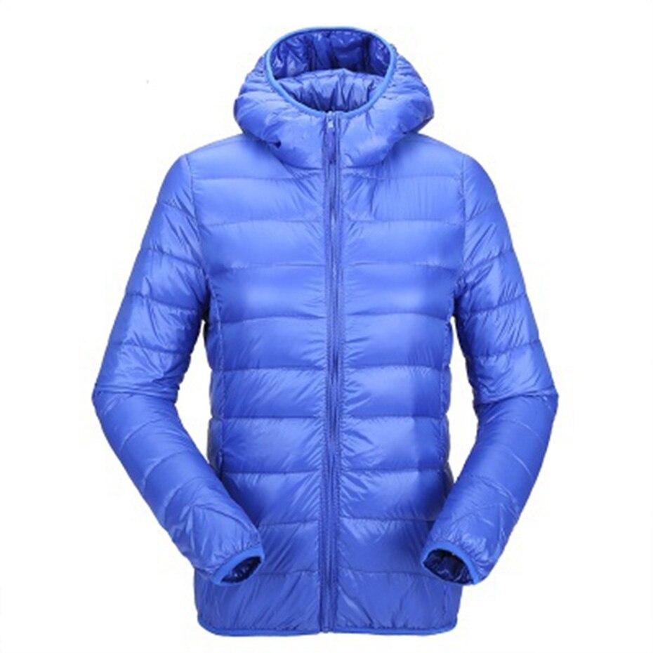 ZOGAA Women Ultra Light   Down   Jackets Hooded Winter   Coat   Slim Fit Solid Zipper Overcoat Autumn Winter Women Parka Jacket Outwear