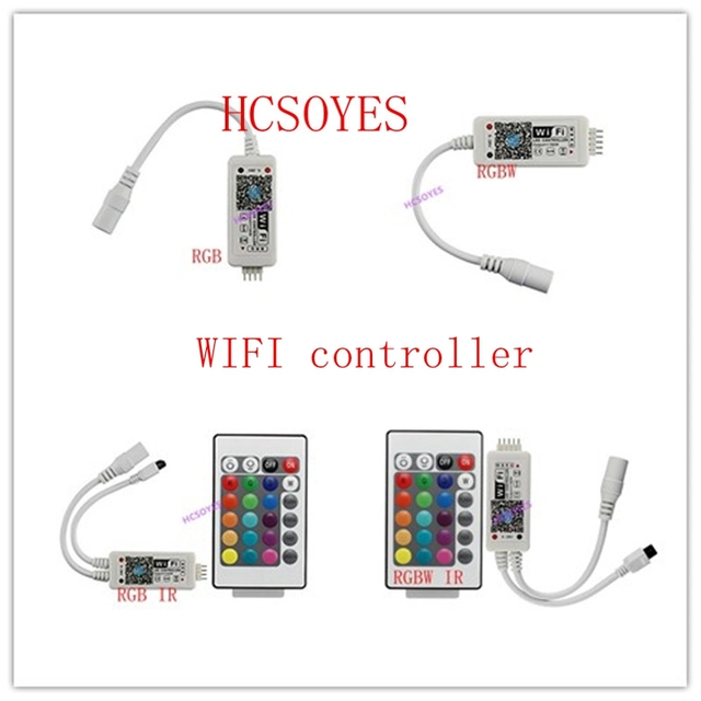 16 millionen farben Wifi RGB/RGBW led controller smartphone control musik und timer modus magie hause mini wifi led rgb controlle