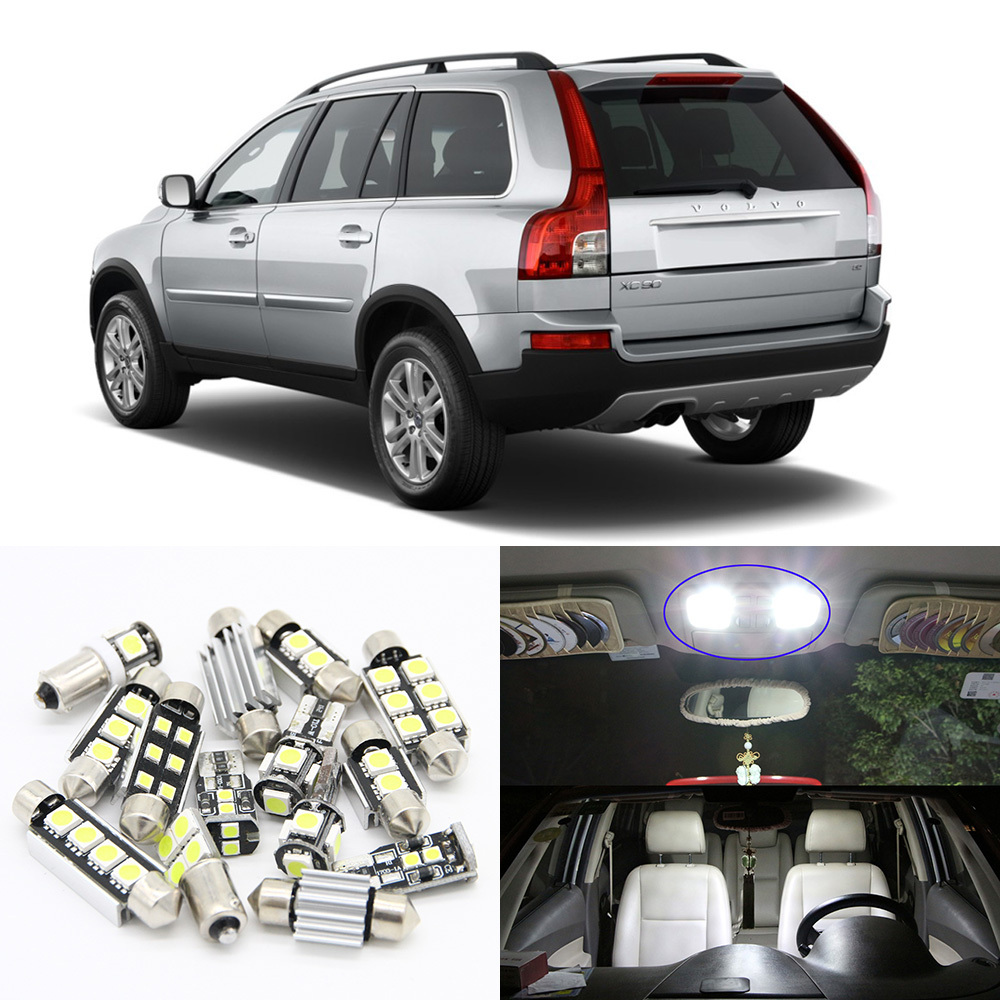 20pcs No Error White Canbus LED Light Car Bulbs For 2002-2011 <font><b>Volvo</b></font> <font><b>XC90</b></font> Map Dome Trunk License Plate Lamp Interior Package Kit image
