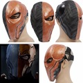 Deathstroke Mask Halloween Masks Batman Movie Cosplay Helmet Props for Adult Dress Parties PVC XCOSER Custom Made