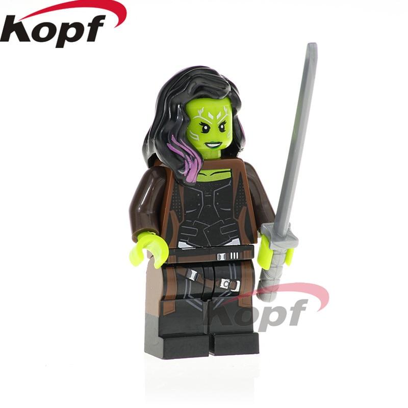 Building Blocks Single Sale Infinity War Figure Avengers 3 Iron Man Doctor Stranger Gamora Super Heroes Toys for children XH 824