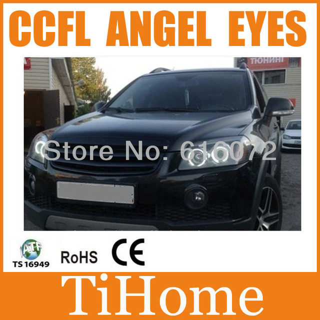 Hot selling !!!  Free Shipping CCFL ANGEL EYES ,NON PROJECTOR HALO RING, COOL WHITE CCFL CAR EYES FOR captiva