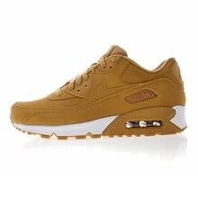 low priced 1a474 0b928 Originele Nike Air Max90 Essentiële heren Running Schoenen, Donker Geel,  schokabsorptie Ademend antislip Lichtgewicht