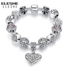 ELESHE Luxury Brand font b Women b font font b Bracelet b font 925 Unique Silver