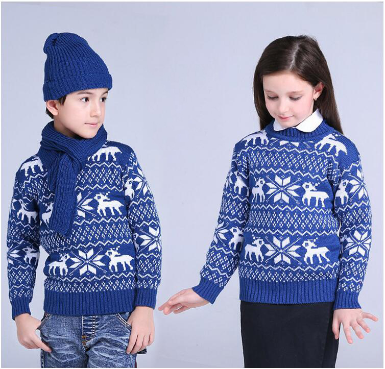 Sweater For School Boys Girls Winter Christmas Sweaters Children Kids Knitted Pullover Warm Outerwear O neck Sweater Cardigan 21