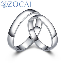 ZOCAI BRAND ETERNAL COMMITMENT REAL CERTIFIED HIS AND HERS WEDDING BAND RINGS SETS PLATINUM PT950 JEWELRY Q00607AB