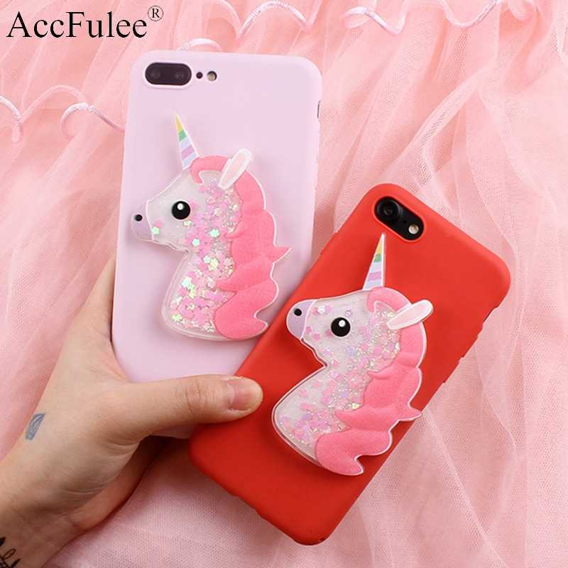 Bling Cute Horse Case for Samsung Galaxy A9 Star Pro 2018 A10 A20 A30 A40S A50 A70 Dynamic Glitter Liquid Horse Soft TPU Cover