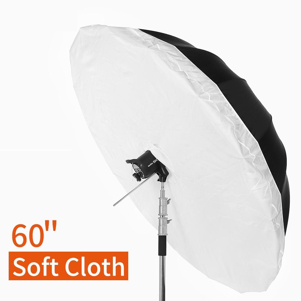60 150cm Studio Photogrphy Umbrella Diffuser Cover For Godox 60 150 cm White Black Reflective Umbrella
