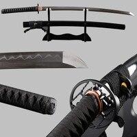 คมชัดมากญี่ปุ่น Samurai ดาบ Katana พับเหล็กดินเต็มรูปแบบ Tang Espadas Vintage ตกแต่ง Samurai คอสเพลย์มีด